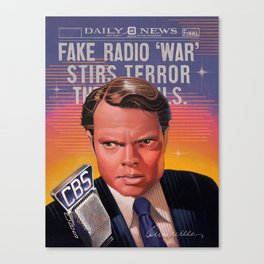 """Orson Welles - """"War of the Worlds"""" (1938) Canvas Print"""