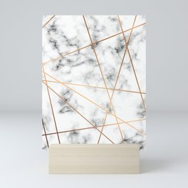 Marble Geometry 051 Mini Art Print