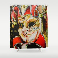 clown Shower Curtains featuring CLOWN by ArtPavo