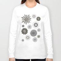 flower pattern Long Sleeve T-shirts featuring Flower pattern by Noah's ART