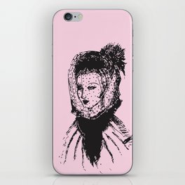 Veiled Lady on Pink iPhone Skin