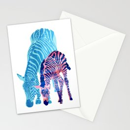 Striped Love (white) Stationery Cards