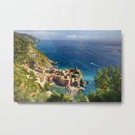Ligurian Coast at Vernazza, Cinque Terre, Italy Metal Print