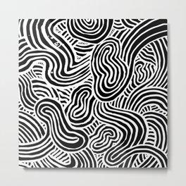 Squiggles Metal Print