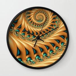 Fractal Splendor, Modern 3D Art Wall Clock