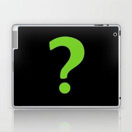 Enigma - green question mark Laptop & iPad Skin