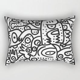 Black and White Graffiti Street art Ink Marker  Rectangular Pillow