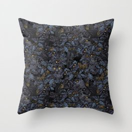 Fit In (moonlit blue) Throw Pillow