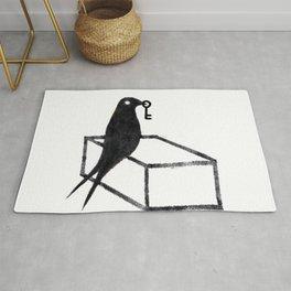 Minimal bird Rug