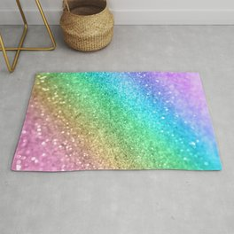 Rainbow Princess Glitter #1 (Photography) #shiny #decor #art #society6 Rug