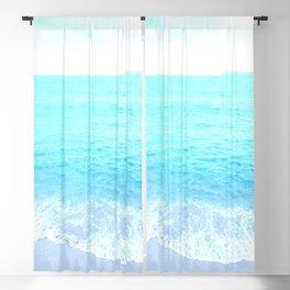 Emerald Blue wave Summer Sea Beach Blackout Curtain