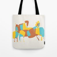 horses Tote Bags featuring Horses by Pablo Correa