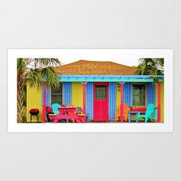 Whimsical Beach House Art Print