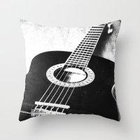guitar Throw Pillows featuring Guitar by Falko Follert Art-FF77