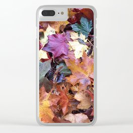 Fallen Fall Leaves Clear iPhone Case