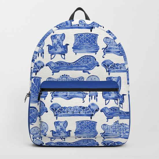 Victorian Lounge – Navy Palette Backpack