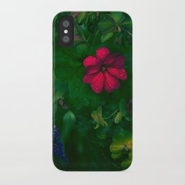 Gathering of Flowers - [Green Version] iPhone Case