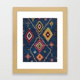 Heritage Moroccan Berber Rug Style Framed Art Print