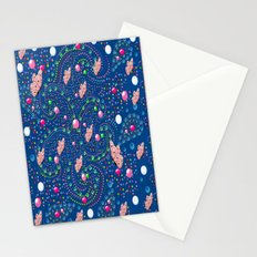 Abstract with butterflies Stationery Cards