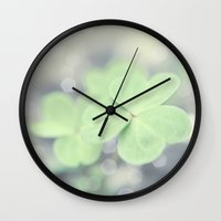 clover Wall Clocks featuring Clover by Scarlet