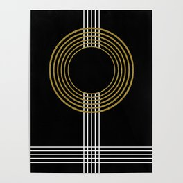 GUITAR IN ABSTRACT (geometric art deco) Poster