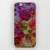 vintage floral iPhone & iPod Skins featuring vintage floral by clemm