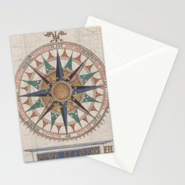 Historical Nautical Compass (1543) Stationery Cards