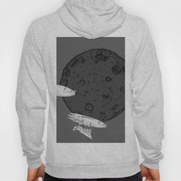Around the Moon Grey and White Textured Version #5 Hoody