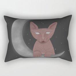 Moon Sphynx Cat Rectangular Pillow
