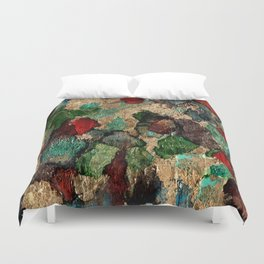 Gold Leaf Abstract Duvet Cover