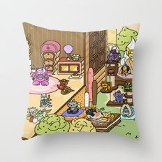 NekoWatch Throw Pillow
