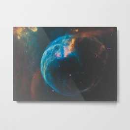 Bubble Nebula Space Metal Print