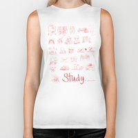 study Biker Tanks featuring Study... by David Nuh Omar