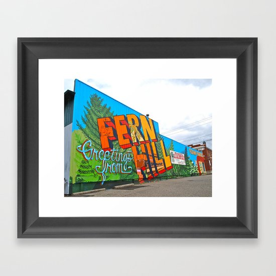 Welcome to Fern Hill Framed Art Print