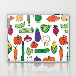 Cute Smiling Happy Veggies on white background Laptop & iPad Skin