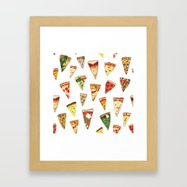 Pizza Pattern Framed Art Print