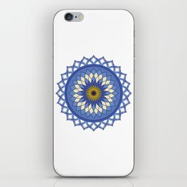 Blue Lotus Flower iPhone Skin