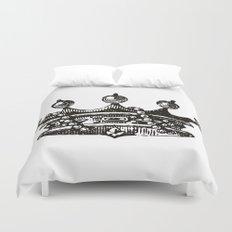 Royal Crown | Black and White Duvet Cover