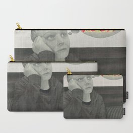 I crave pizza wall art, Black and White, Pencil drawing, Fine art prints, Prints illustrations Carry-All Pouch