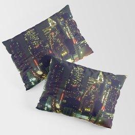 New York City Night Skyline Pillow Sham