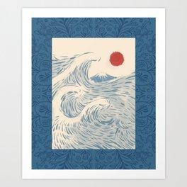 Mount Fuji the great wave 2 Art Print