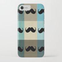 moustache iPhone & iPod Cases featuring Moustache by Zetanueta
