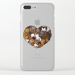 Heart Full Of Cats | Cat Lover Kittens Purr Clear iPhone Case