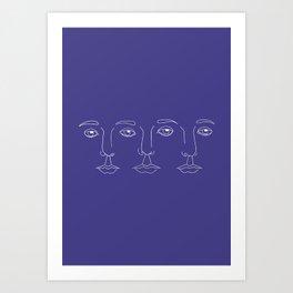 L'amour à trois Art Print