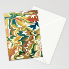 Liquid Marble // Navy Blue, Green, Red, Amber Yellow Stationery Cards