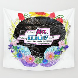 Art Saves Wall Tapestry