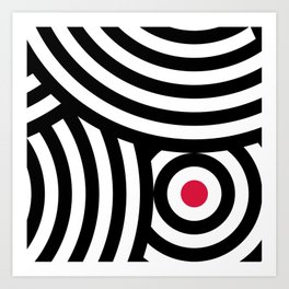 Cropped Roundels Art Print