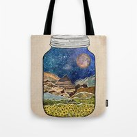 collage Tote Bags featuring Star Jar by Jenndalyn