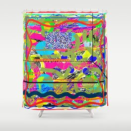 Sasso Abstract New Shower Curtain