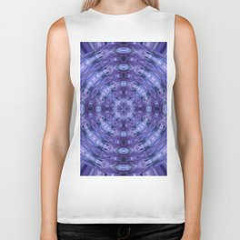 283 - Abstract Purple Orb Biker Tank